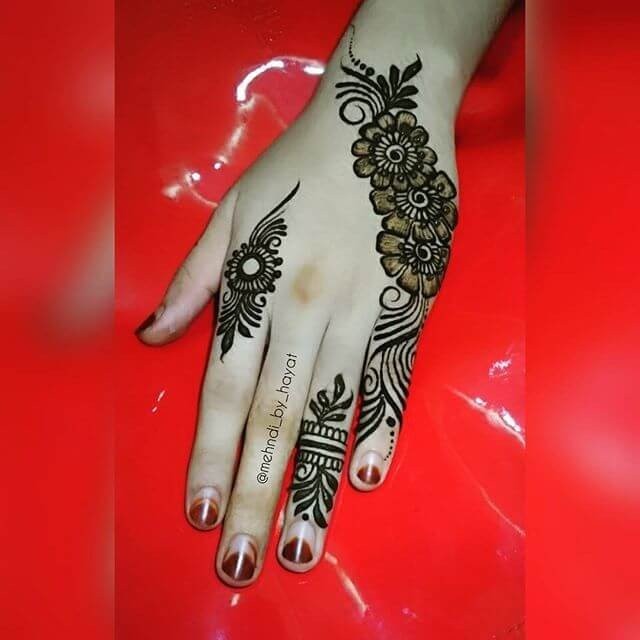 Backhand festival mehndi designs for girls