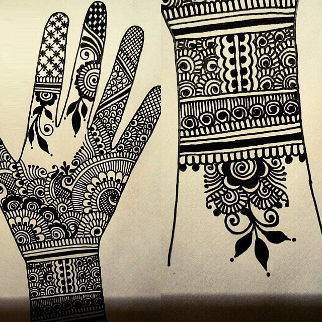 Creative paper art mehndi design or henna designs
