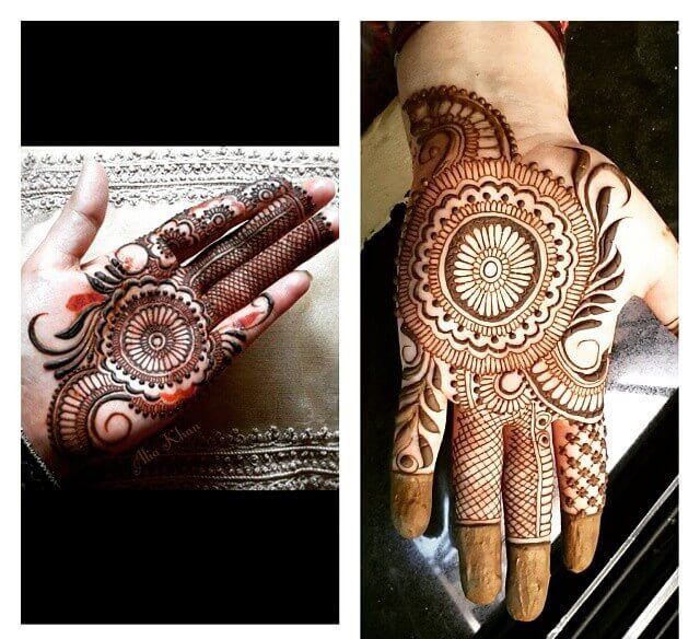 lovely mehndi designs for fronthands