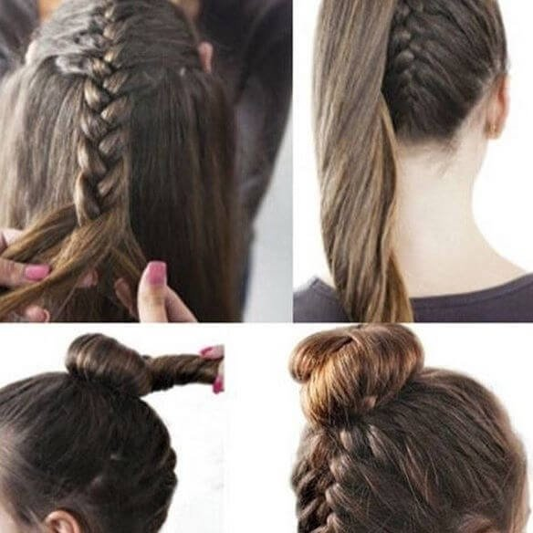 Step by Step cute hairstyles for school