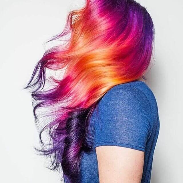 cute colored hairstyles for medium length hair