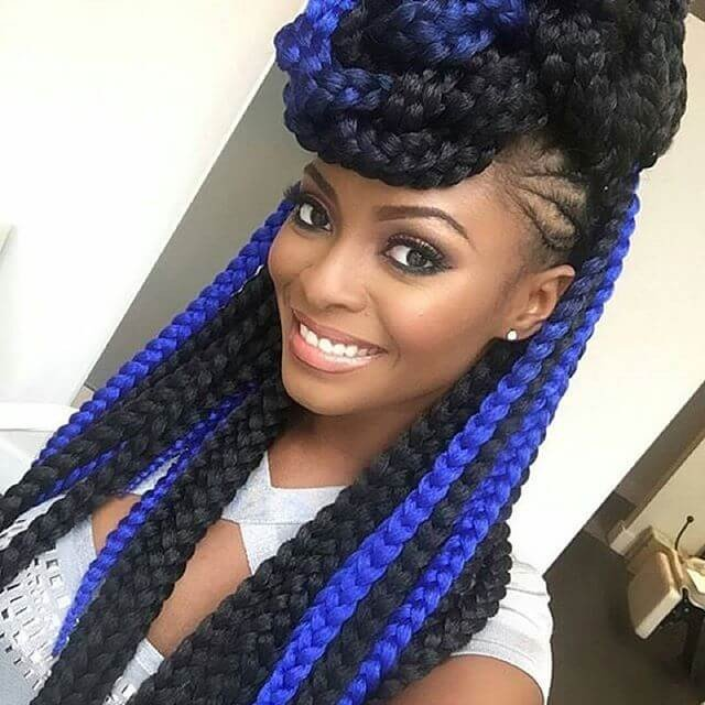 colored black hairstyles for long hairs