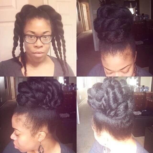 black hairstyles for medium hair 2018