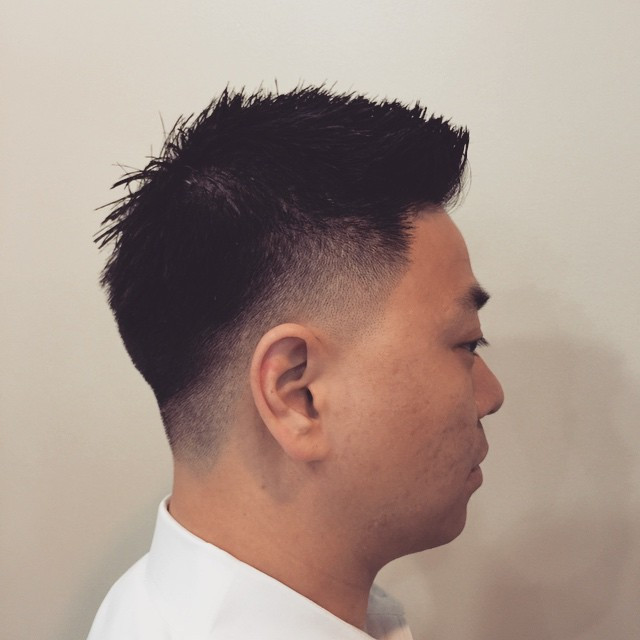 Fohawk High Fade Asian Hairstyles for Men