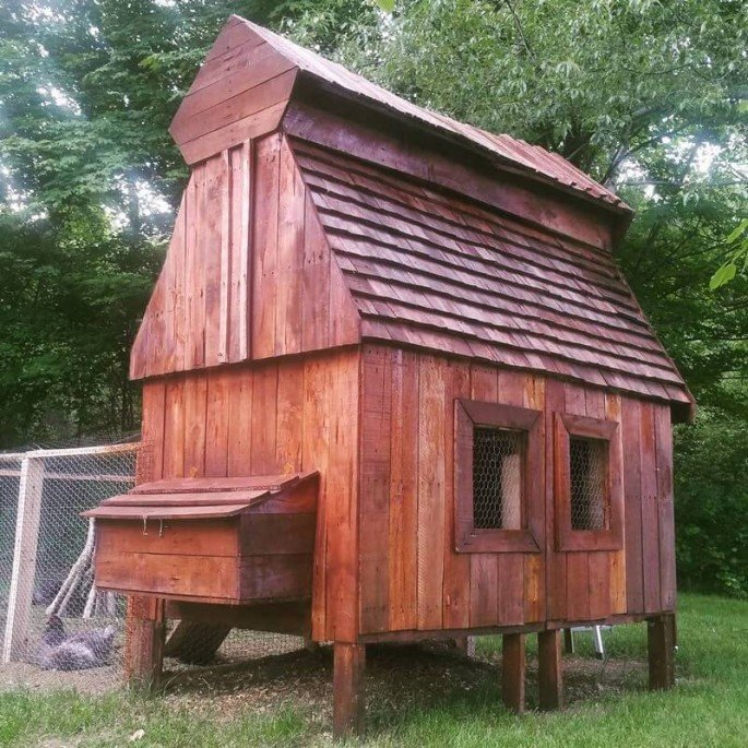 build a hen house from pallets