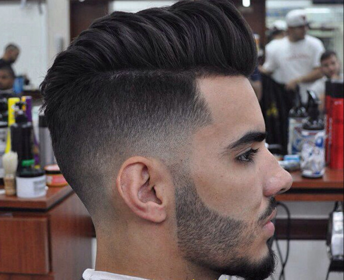 Pompidou Paired With Low Fade Asian Hairstyles for Men