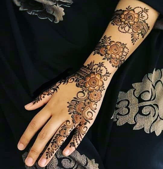 full hand with arm mehndi design