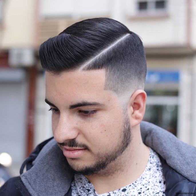 Comb-over Fade Medium Length Men's Hairstyles