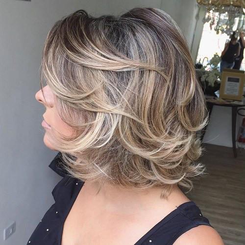 Soft GOLD for MEDIUM LENGTH HAIR over 50