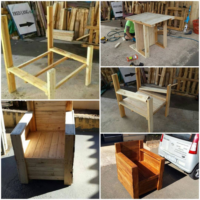 Pallet for Lounge Chair DIY