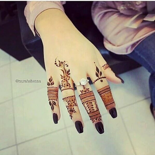 How To Apply Simple Arabic Mehndi Designs For Fingers