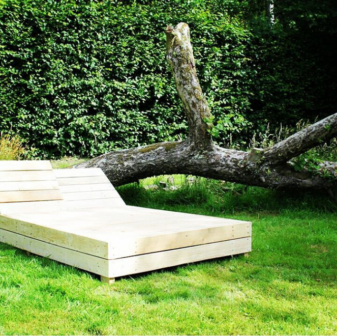 Pallet for Lounge Chair for garden