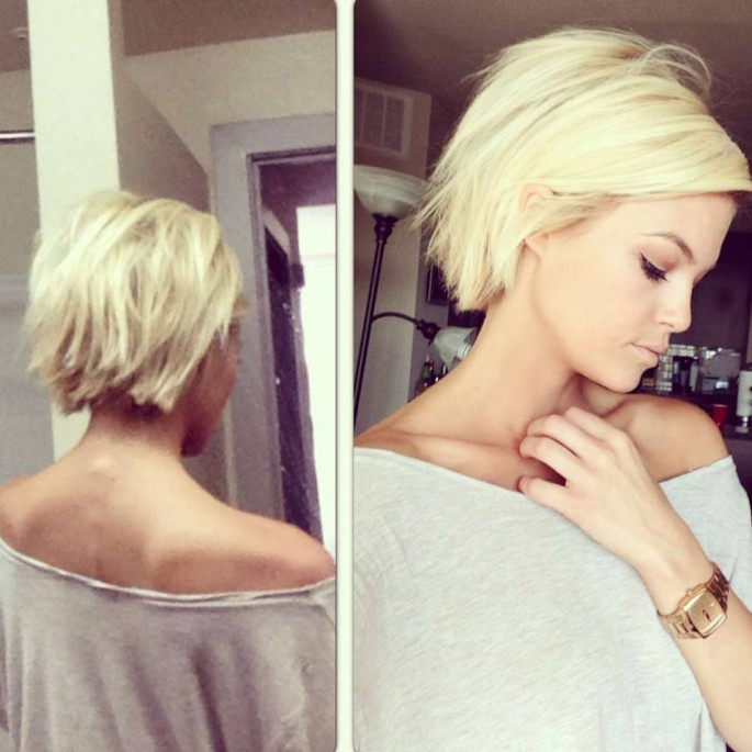 Side shaped short hairstyles ideas