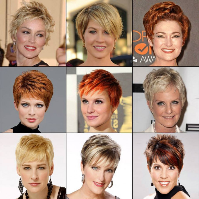 short hairstyles colored hair