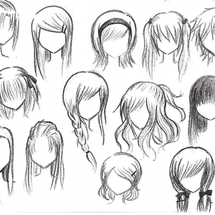 The Anime girl for hairstyles