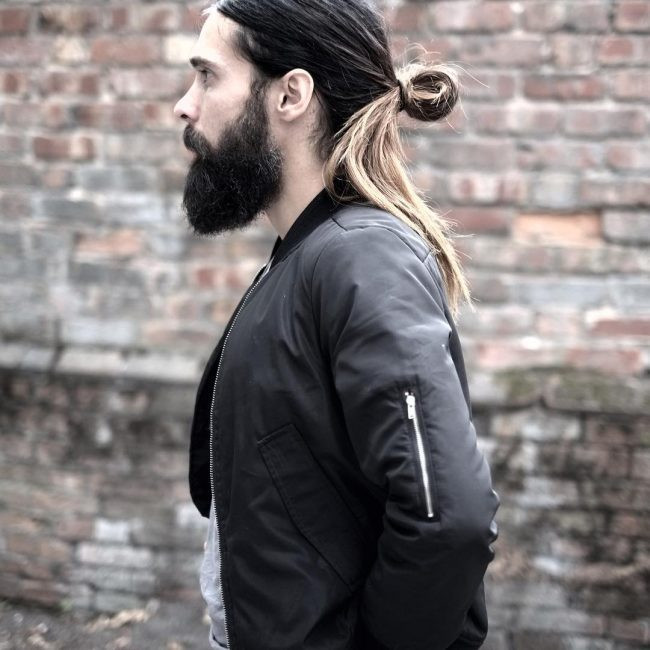 mens ponytail undercut