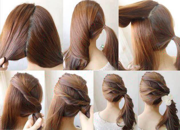 Bouffant Ponytail for cute girls 2018