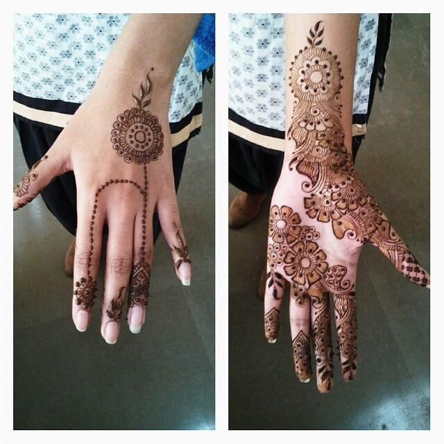 Jeweled Bridal Henna Designs