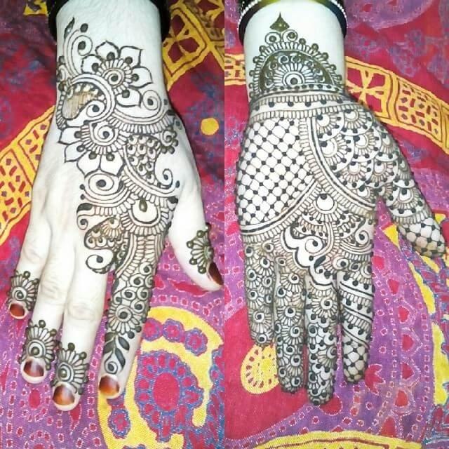 Bridal Front & backhands mehndi design 2018