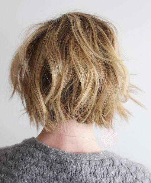 Shaggy Dyed with Bun Short Messy Hairstyles Ideas for Women