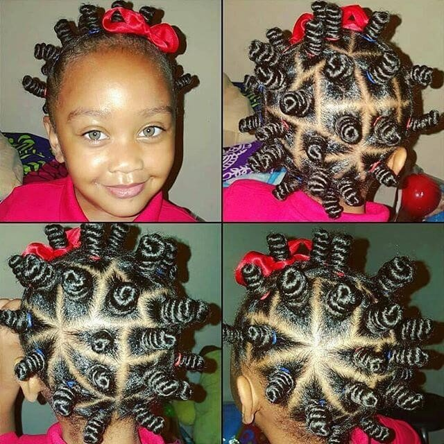 55 Pretty Hairstyles for Black kids ideas
