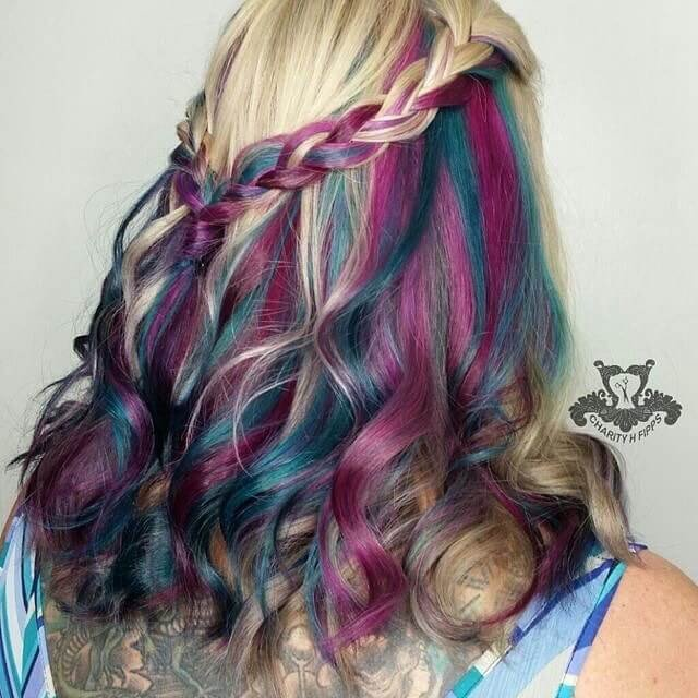 Colored Beautiful Hairstyles ideas for white women