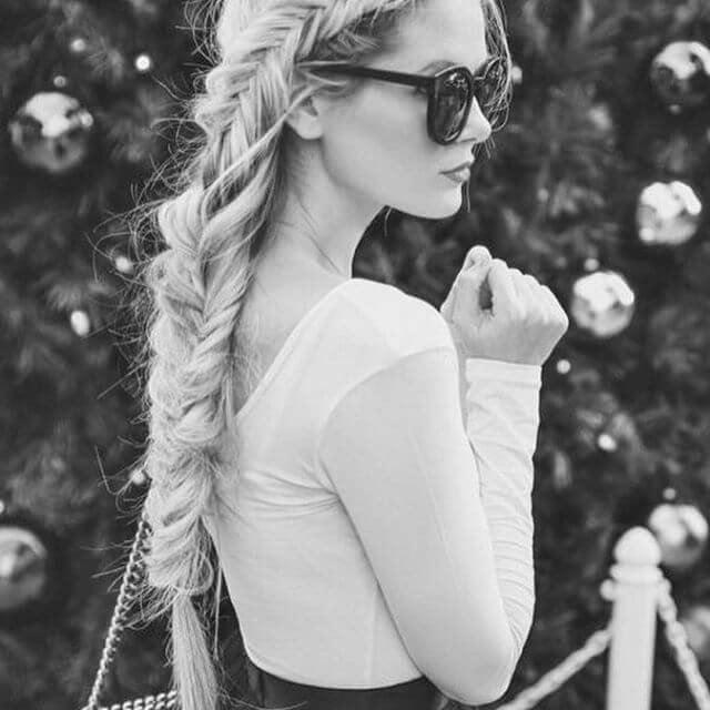 Creativity in hairstyles for long hair