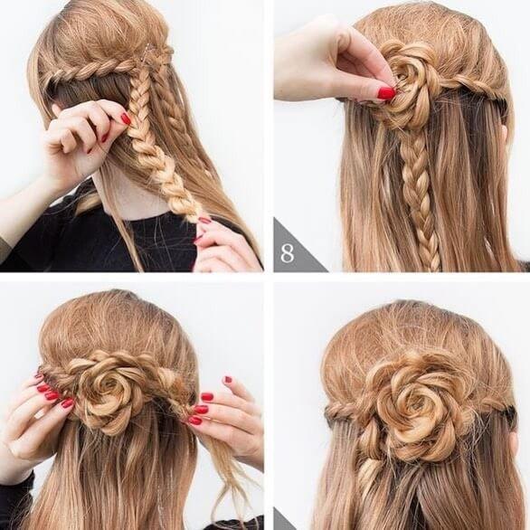 34 Easy Women Hairstyles for Long Hair on Festivals - Sensod