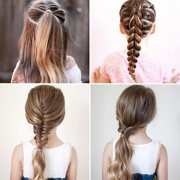 Step by step Long hairstyles trendy ideas for little girl