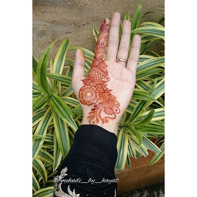 Simple Glitter Mehndi Design 2018