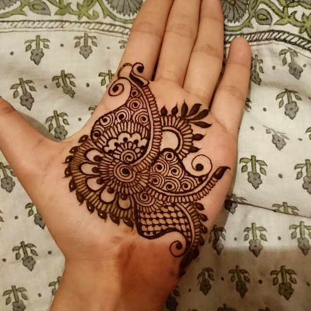 Lovely Leaflets Pattern mehndi Design