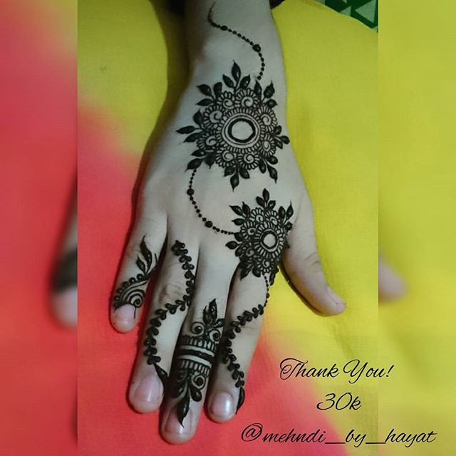 Elegant Bridal back hand Mehndi Design