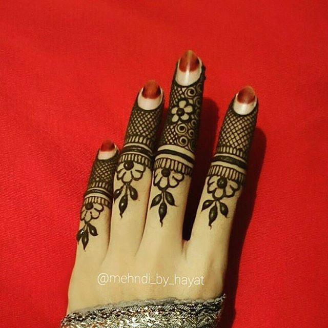 Elegant Bridal finger Mehndi Design