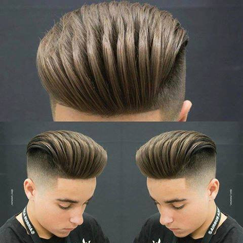 Unique High Fade with Loose Pompadour hairstyles ideas 2018