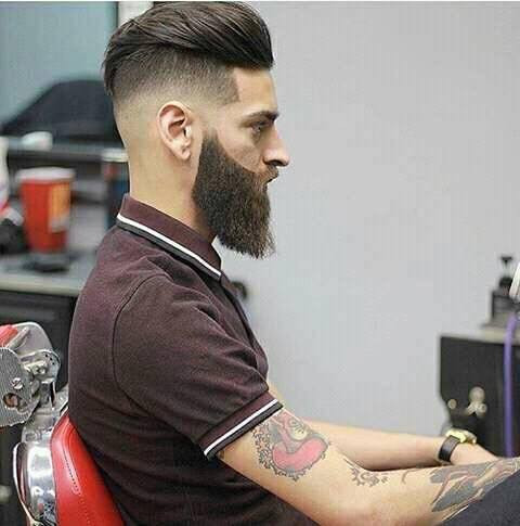 High Fade with Loose Pompadour hairstyles 2018