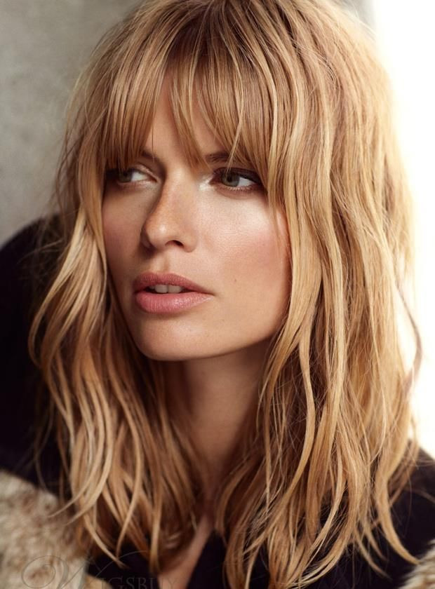 Blended-In-Bangs Long Hairstyles For Women