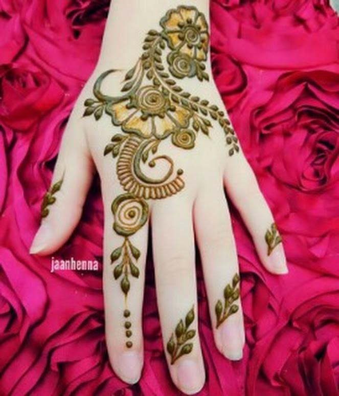 easy and beautiful mehndi design for girls
