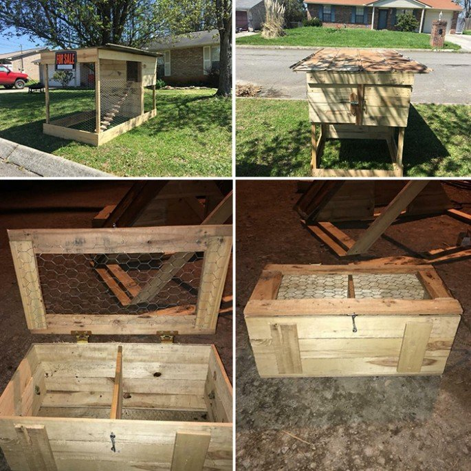 20 Free Pallet Chicken Coop Projects Ideas You Can Build Yourself