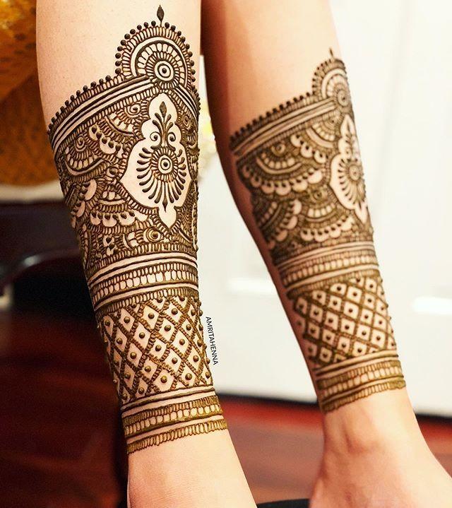 bridal legs mehndi designs