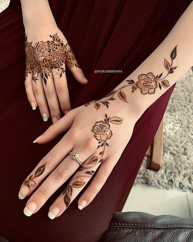 hands mehndi design for weeding
