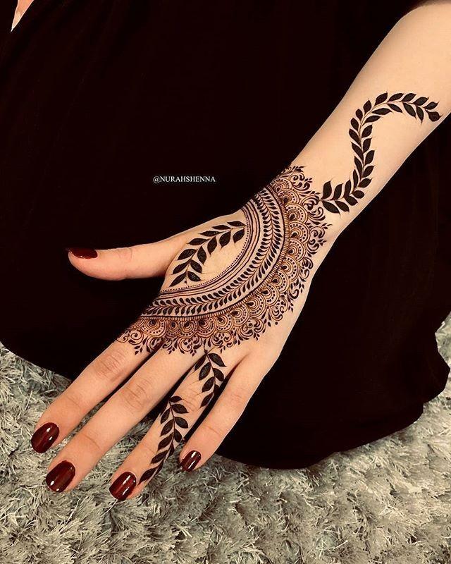 hands mehndi design for festival