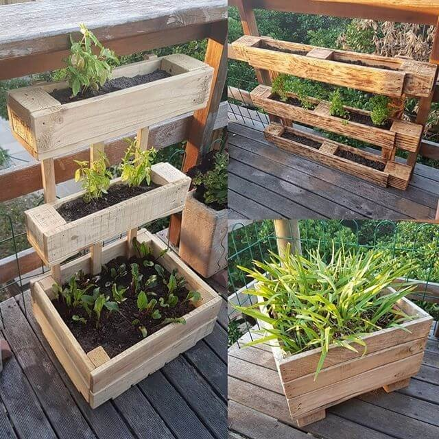Rectangle Raised Flower Box Planter Bed 2 Tier Soil Pots: 10 Amazing And Easiest Pallet Planter Boxes