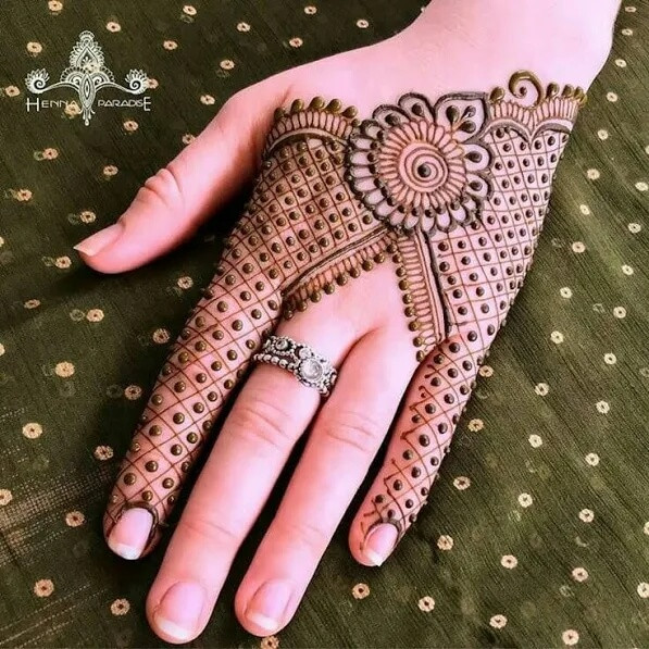 dotted mehndi designs ideas