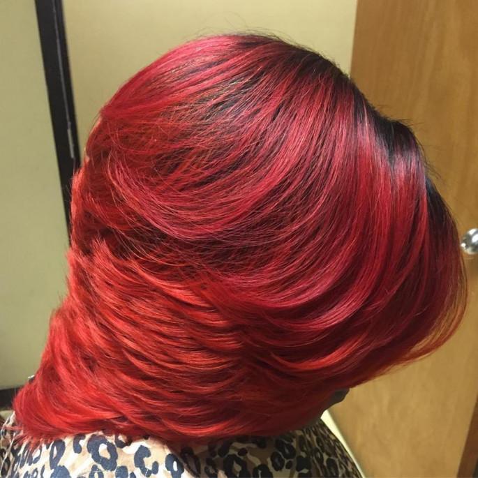 Razor Cut German Red Hair