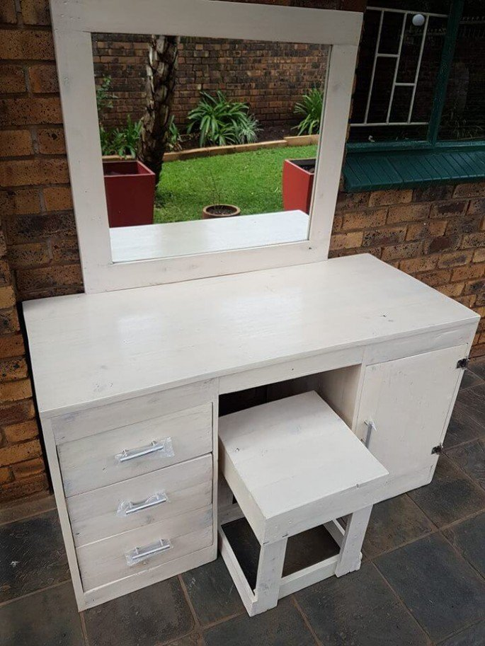 Collection Of Nicely Made Pallet Dressing Table Ideas