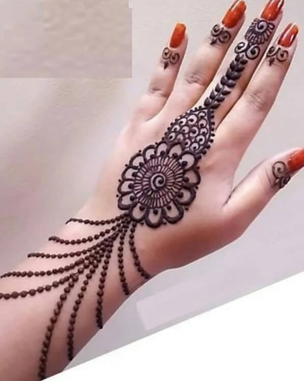 backhand Festive Henna Design