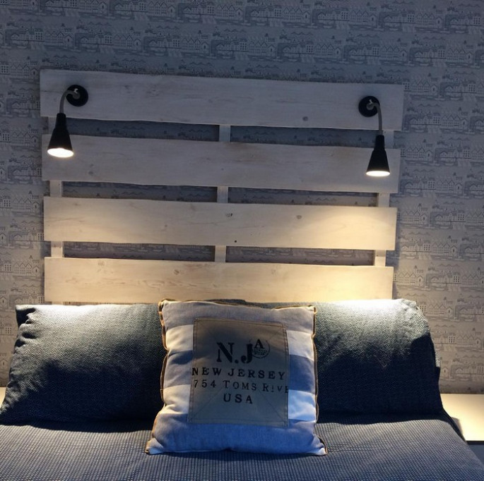 Headboards and Pallet Bed Frames with hidden lights