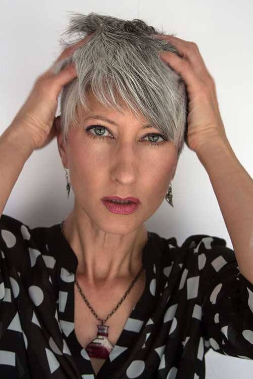 Short or very short hairstyles over 50