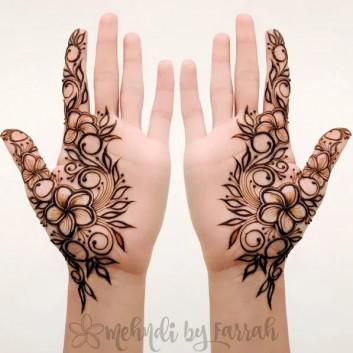 Latest Adorable Mehndi designs for Girls