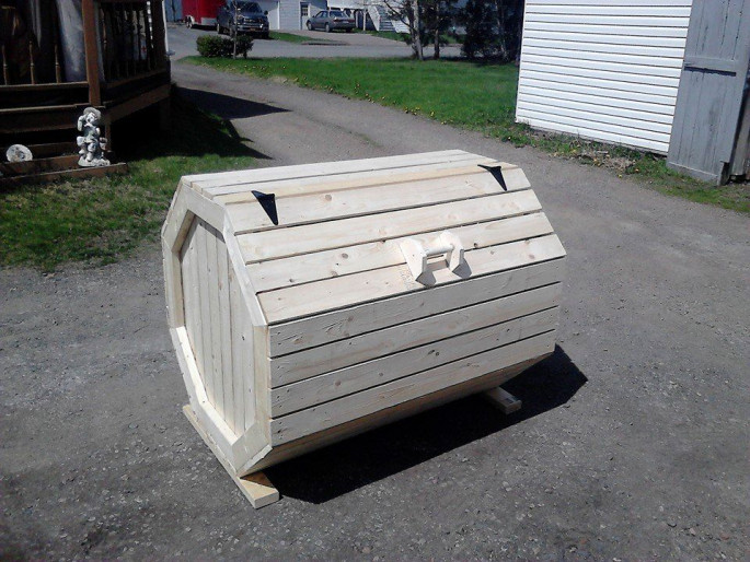 Pallet Storage letter or dustbin box